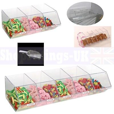 New Pick N Mix Sweet Acrylic Dispenser Display Stacking Bin Holder