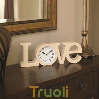 LOVE Clock Sign Free Standing Word Letters Desk Table Mantel Ornement