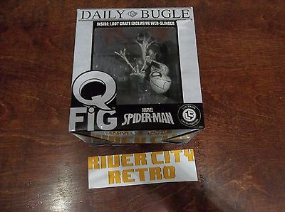 Daily Bugle Spider-Man QFig Q-Fig Loot Crate Exclusive Web-Slinger Marvel Lt. Ed