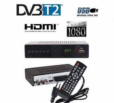Decoder Digitale Terrestre Ricevitore Dvb-T2/T Full Hd Scart Usb Hdmi Mpeg4 Jpeg