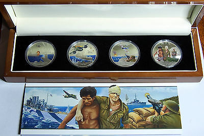 2012 Niue - 1942 Battle for Australia - 4 coin set - As issued in display case