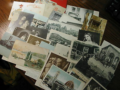 Vintage Italian Italy 1900s Post Cards 50+ All Undivided Backs /Nice & Clean