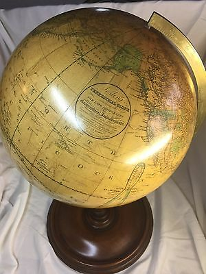 "Joslin's Antique Terrestrial World Globe 12"" 1875. Amazing Condition"