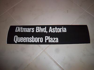 Nycta Nyc Subway R-10 Route Roll Sign Harlem Collectible Ditmars Blvd Astoria