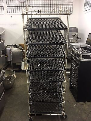 Bakery / bread rack with trays on wheels / bakery , restaurant, catering
