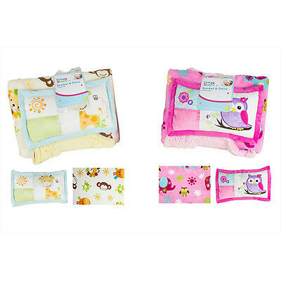 Cute Blanket With Pillow Gift Set In Pink/cream Color By First Steps