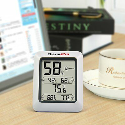 Digital Thermo Hygrometer ThermoPro Home Office Monitor Temperature Dry Wet New