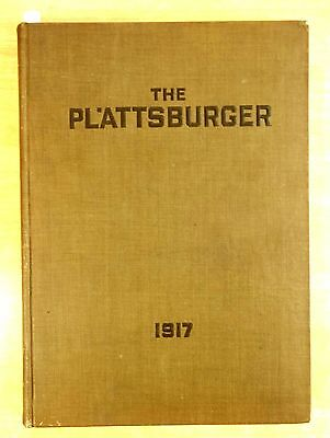 Military Yearbook 1917 WWI PLATTSBURGER Plattsburg NY Training Second Camp ARMY