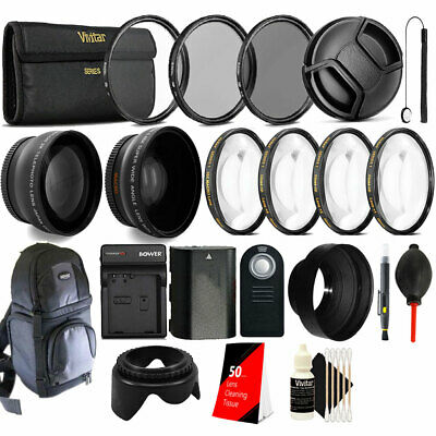 58mm Top Accessory Lens Kit + Replacement LP-E6 Battery for Canon DSLR Camera