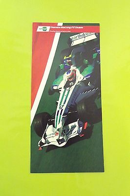 Honda Racing F1 Team Driver Card Rubens Barrichello