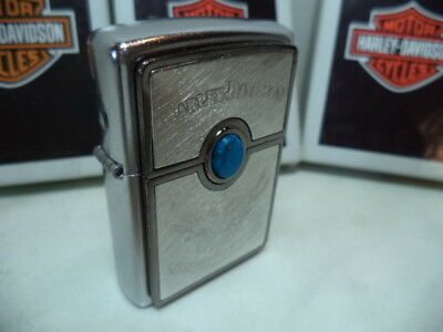 Zippo  Accendino Lighter  Harley-Davidson Torquoise   New Nuovo Last Remain