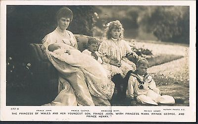ROTARY POSTCARD The Princess Of Wales And Her Youngest Son Prince John C1906