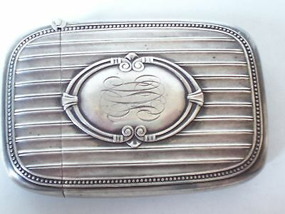 Antique Sterling Silver Match Safe Are Deco Striped Heavy