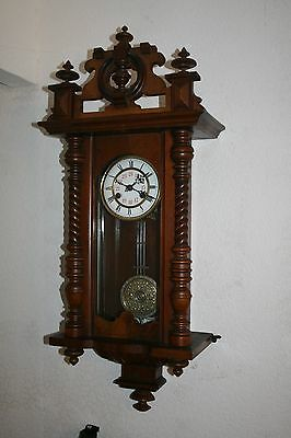 Superb Victorian Walnut Vienna Wall Clock