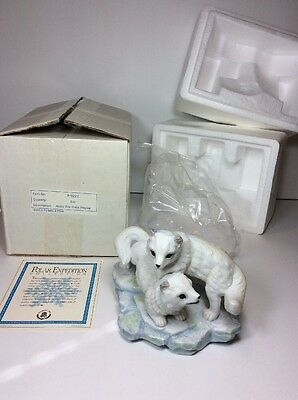 *NEW* Artic Fox Cubs Playing P-9223 Maruri USA 1992 Polar Expedition Collection