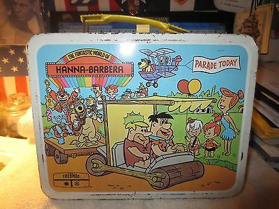 HANNA-BARBERA  Metal Lunchbox & Thermos,1977 Vintage (King-Seeley) VERY RARE! F1