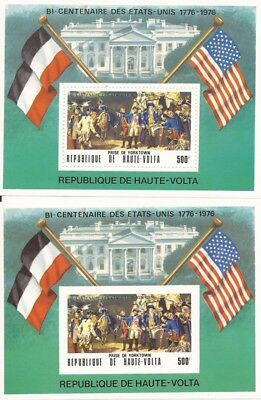 Burkina Faso-1975 American Bicentennial - 2 Sheets Perf & Imperf #367A