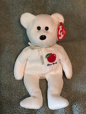 579f2803041 TY Beanie Baby - NEW YORK STATE Teddy Bear - Pristine with Mint Tags -  RETIRED