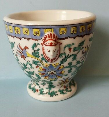 A H & Co. French Porcelain Hand Painted Small Cache Pot Planter