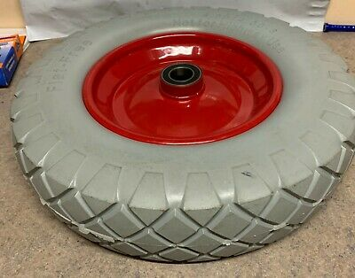 "16"" Wheelbarrow Wheel SOLID Puncture Proof 16mm Bearing Barrow 4.80 / 4.00 - 8"