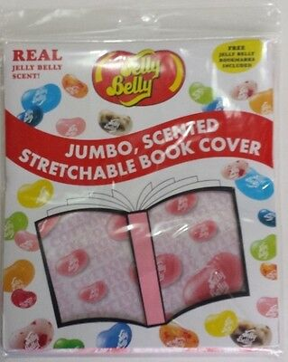 Jelly Belly ~ Cotton Candy Scented Fabric ~ Jumbo Book Cover ~ Bookmark ~ School