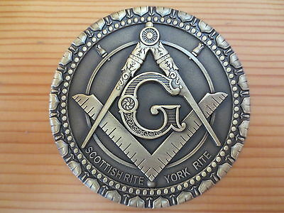 Masonic Auto Car Badge Emblems mason E34 Compass And Square G SCOTTISH RITE 3D