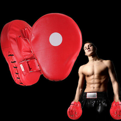 Boxing Mitts Training Target Focus Punch Pad Mat Glove MMA Karate Muay Red AU