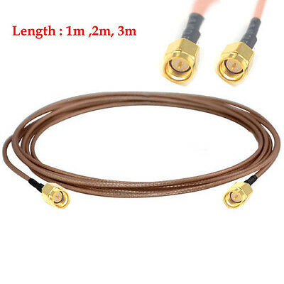 SMA Male to SMA Plug 2.4ghz WiFi Antenna Extension Cable Pigtail RG316 1m 2m 3m