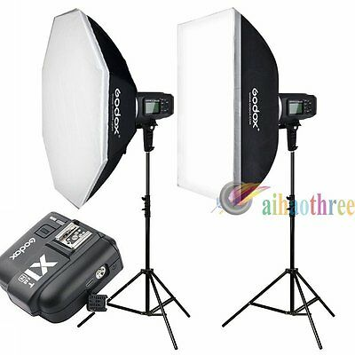 Godox AD600B 2x600W TTL 1/8000s Bowens Mount Flash Light Trigger Kit For Nikon