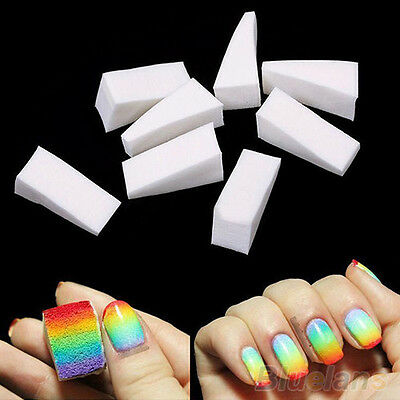 8 PCS Hot Beauty Nail Sponges for Acrylic Manicure Gel Nail Art Care DIY