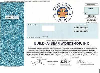 Original Wertpapier Aktie Build-A-Bear Workshop 2017