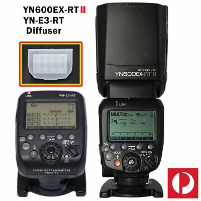 Yongnuo YN600EX-RT II Speedlite Flash Light + YN-E3-RT Transmitter for Canon AU