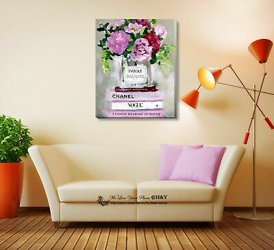 Pot Flower Fashion Stretched Canvas Print Framed Wall Art Home Decor Painting