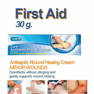 Care Antiseptic First Aid Cream 30g For Minor Burns, Abrasions & Nappy Rash