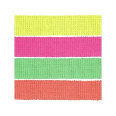 40mm Neon Webbing 100% Acrylic Tape Craft Upholstery Bags Dogs Collar