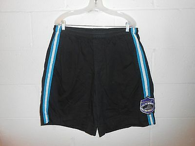 Vintage 80s 90s Rollerblade NIHA National InLine Hockey Assn Black Shorts XL