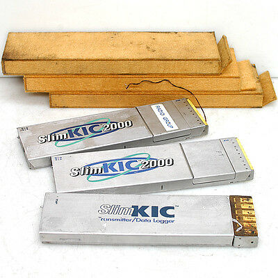 (Lot of 3) SlimKIC Slim KIC 2000 Oven Thermal Profiler Data Transmitters