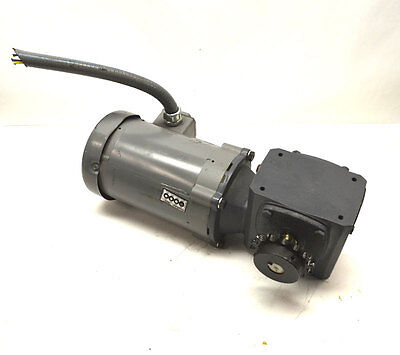 Baldor Boston Gear FUTF-B 1/2-Hp Motor & Gearbox Speed Reducer 10:1 460 lb-in