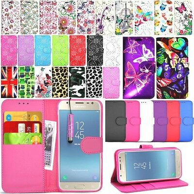 For SAMSUNG GALAXY J3 2017 J330f  Wallet Leather Case Cover + Screen Protector