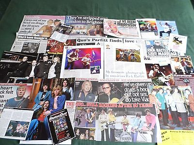 Status Quo - Pop/rock Music  - Clippings /cutting Pack