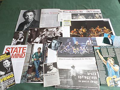 Bruce Springsteen -  Rock  Music  - Clippings /cutting Pack