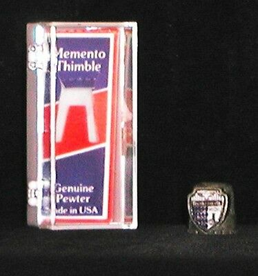 collector's pewter thimble Frankenmuth, Michigan  in original box