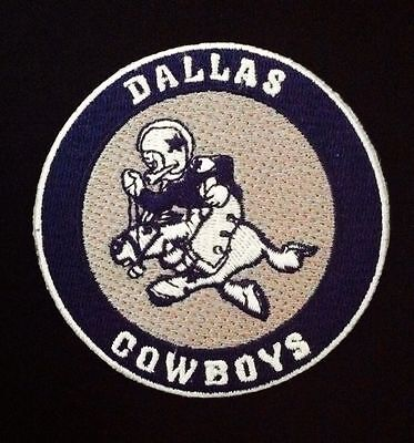 """Dallas Cowboys Vintage Embroidered Iron On Patch (Old Stock) 3"""" x 3"""" COWBOY JOE"""