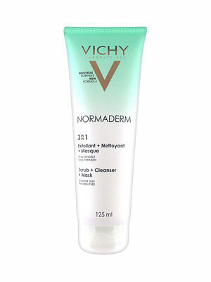 Vichy Normaderm 3 in 1 Scrub + Cleanser + Mask 125ml  GENUINE & NEW