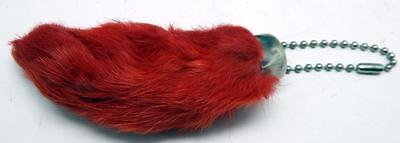 Red Colored Lucky RABBITS FOOT Real Authentic Foot Key Chain New