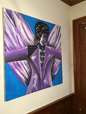 prince painting 36x36 acrylic on repurposed canvas