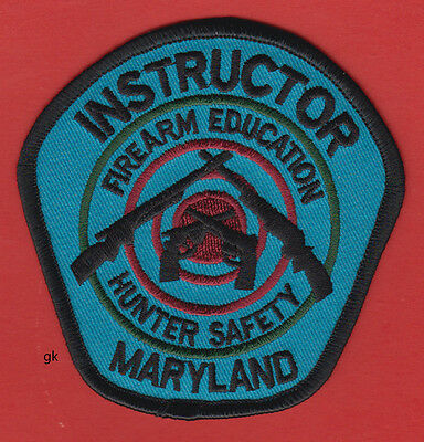 Maryland Hunter Safety Firearm Education Instructor  Shoulder Patch