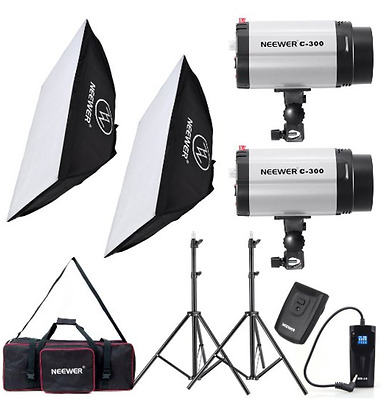600W Photo Studio Monolight Strobe Flash Light Softbox Lighting Kit