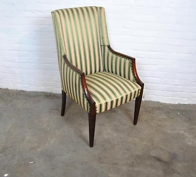 Federal Style Stripped Arm Chair With Fluted Legs