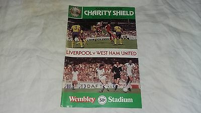 LIVERPOOL V WEST HAM Charity Shield Saturday 9th August 1980  FOOTBALL PROGRAMME